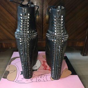 Jeffrey Campbell - black leather studded damsel-10